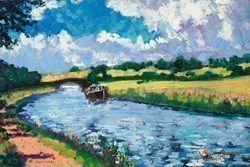 Along the Canal by Timmy Mallett -  sized 12x8 inches. Available from Whitewall Galleries